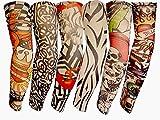HaimoBurg 6-tlg. Set Tattooärmel Armstrümpfe Körperkunst Temporäre Gefälschte