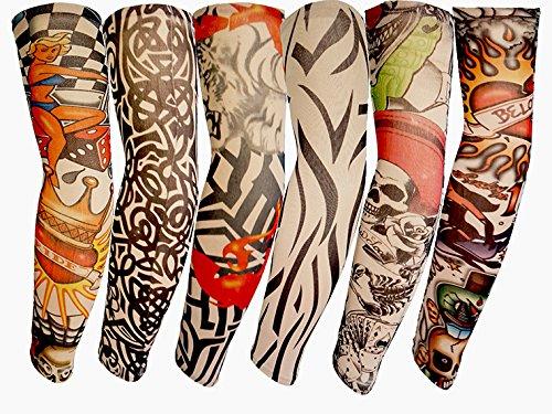 Tattooärmel Armstrümpfe Körperkunst Temporäre Gefälschte (Mann Pop Art Kostüm)