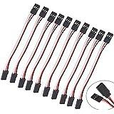 10Pcs 50cm Servo Extension Cord Cable Lead Wire JR 50cm 26AWG YJUK