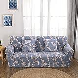 FORCHEER Sofabezug elastische Sofahusse Sesselbezug Stretchhusse Sofaüberwurf Couch Husse mit 4 verschienden Größe ( 3-Sitzer, 190-230cm, Farbe #3 )