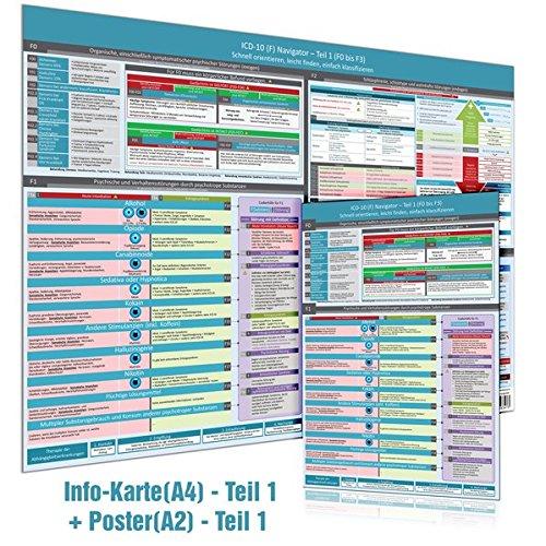 [2er Set] ICD-10 (F) Navigator (DINA4) + Wandposter (DINA2) - Ideal zur Prüfungsvorbereitung für Heilpraktiker Psychotherapie (2016) - Teil 1 (F0 bis ... leicht finden, einfach klassifizieren par Samuel Cremer