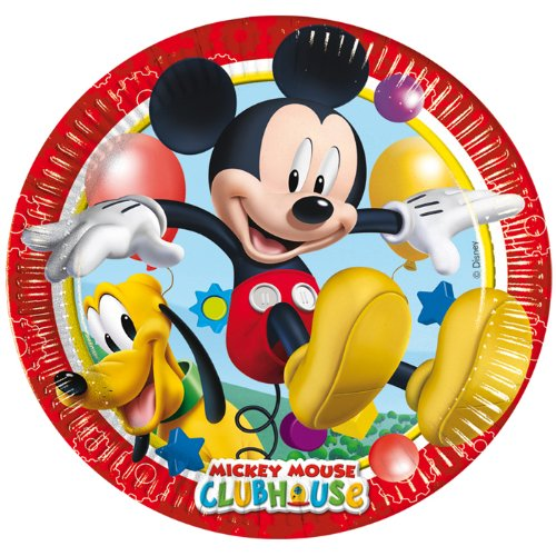 PARTY DISCOUNT NEU Teller Playful Mickey, 23 cm, 8 Stk.