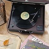 1byone-Giradischi-a-Valigia-con-Trazione-a-Cinghia-3-Velocit-e-Altoparlante-Integrato-Registra-da-Vinile-a-MP3-USB-per-MP3-Bluetooth-AUX-In-e-uscita-RCARosso-Vinaccia