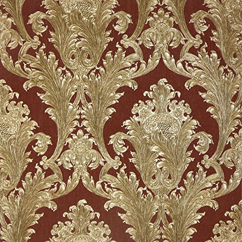 arthouse-vintage-figaro-italian-damask-pattern-textured-glitter-vinyl-wallpaper-red-291204