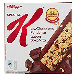 Kellogg's Special K Barretta Cioccolato Fondente – Confezione di 6 barrette da 21,5 g