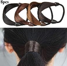 Fascigirl 8PCS Ponytail Holder Fake Hair Rope for Women Girls