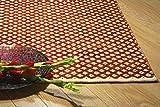 90 x 150 cm Alfombra de tejido reversible tejido 100% material orgánico con tintes vegetales.Tapete. 3' x 5' Terracotta Brown Diamond Pattern Reversible Area Rug. Material Cotton Rayon