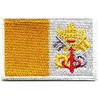 Bandera de la ciudad del Vaticano Roma Roma Italia católica bordado Applique parche para planchar (nuevo tamaño mediano