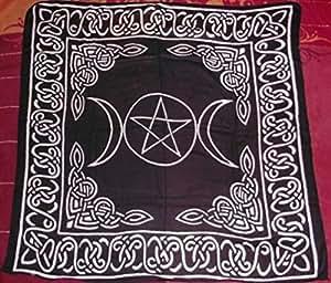 Triple Goddess With Pentagram Altar/Tarot Cloth by New Age