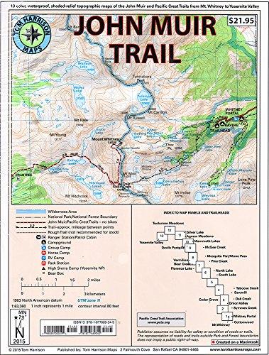 Map-pack of the John Muir Trail (Tom Harrison Maps) por Tom Harrison