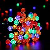 Brizled LED Lichterkette Weihnachten, mit Adapter, 10 Meter, 100LED, G14 Diamond Form, Weihnachtsbeleuchtung für Wohnung, Innenbereich, Hochzeit, Party (mehrfarbig)