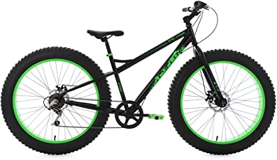 KS Cycling Herren Mountainbike Fatbike 26'' schwarz-grün Fahrrad