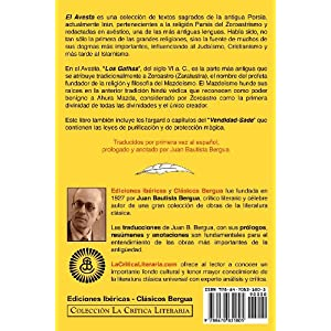 El Avesta: Zoroastrismo y Mazde Smo (COLECCION LA CRITICA LITERARIA)