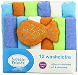 #10: Baby Grow Luvable Friends 12 Washcloths With Bonus Toy (Blue)