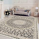 A2Z Rug Vintage Traditional Aspendos Black Area Rugs 160x230 cm - 5'2 x 7'5 ft