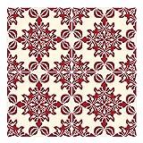 Wandkings Fliesenaufkleber 4er Set - Wähle ein Muster & Größe - 'Isabelle' - 30 x 30 cm