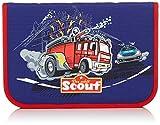Scout Schulranzen-Set Etui 23 tlg Feuerwehr 20 cm Blau 66250096100