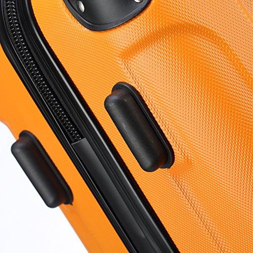 2045 Reisekoffer Koffer Trolley Hartschale XL-L-M in 12 Farben (Orangen, XL) - 3