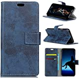 Codream HTC U12 Life Case, HTC U12 Life Wallet Case, Skins, Premium Slim Leather Wallet Back Case With Credit Card ID Holder Protective Case Compatible With HTC U12 Life,Blue