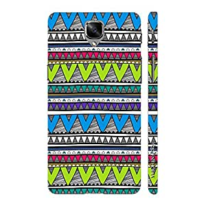 Enthopia Designer Hardshell Case Aztec 22 Back Cover for One Plus 3, One Plus 3T