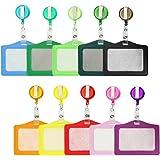 Porta-badge e Porta-carte, Card Holder Bobine di Badge Retrattile con Porta Carta d'Identità 10 colori for Business, Exhibiti