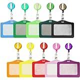 Porta-badge e Porta-carte, Card Holder Bobine di Badge Retrattile con Porta Carta d'Identità 10 colori for Business…