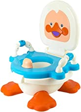 Truphe Baby Plastic Duck Shaped Potty Seat With Removable Bowl & Closeable Cover (Blue)
