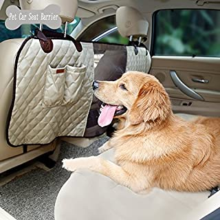 ANGELNEWS Pet Dog Net Car Barrier, Front Seat Pet Barrier With Storage Pockets For Cars/Vans/SUV's/Trucks, Breathable Mesh Design For The Air Conditioner