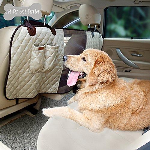 Pet Hund Net Barrier, Front Seat Pet Barrier mit Aufbewahrungstaschen für Autos Vans/SUV/LKW, atmungsaktiv Mesh-Design für die - Seat Klimaanlage