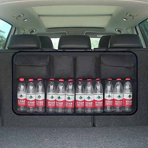 Onewell - Organizador de maletero de coche, para mantener el coche limpio y organizado; duradero, plegable, almacenamiento de red de carga para más espacio en el maletero, con correas ajustables para adaptarse a todos los vehículos