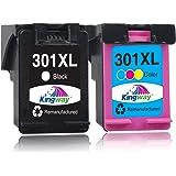 Kingway Rigenerata 301XL Compatibili per HP 301 XL Cartucce d'inchiostro per HP DeskJet 1010 1050 1510 2050 2510 2540 3000 30