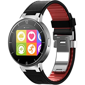 """Alcatel OneTouch Watch - Smartwatch (pantalla 1.22"""", 512 MB RAM, Chipset STM429, Android 4.3), negro y rojo"""