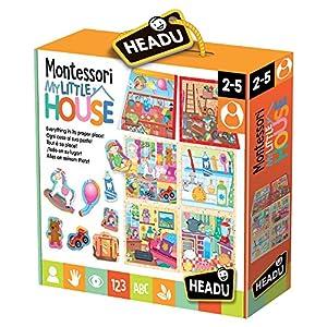 Headu- Montessori My Little House Juego Infantil Educativo Desarrollo Conocimiento del Entorno, (IT20836)