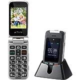 Cellulare per Anziani Artfone C10 GSM Telefono per Anziani a Conchiglia Tasti Grandi 2,4'' Display Volume Alto Funzione SOS D