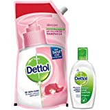Dettol Liquid Handwash Skincare - 750 ml with Dettol Instant Hand Sanitizer - 50 ml