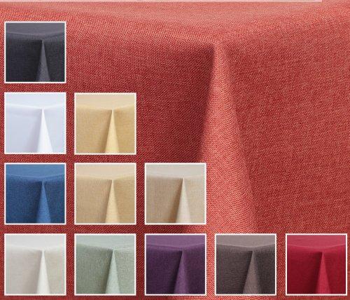 Deko-Home24–Mantel rectangular (aspecto de lino, resistente al agua, 110x 110cm–) de color...