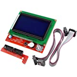 REES52 LCD 12864 Graphic Smart Display Controller Module with Connector Adapter & Cable for RepRap RAMPS 1.4 3D Printer kit A