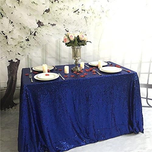 hdecke für Hochzeit, Party, Zuhause, Pailletten, Tischdecke, königsblau, 75