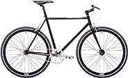 REID Unisex Adult Harrier, M Matte Singlespeeds and Fixies Hybrid Bike - Matte Black, 130 x 40 x 20