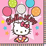 Hello Kitty Birthday Party Beverage Napkins [16 Per Pack]