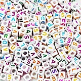 Mezclado 500PCS 6mm Granos de acrílico de la letra de plástico granos del espaciador del alfabeto...