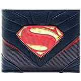 DC Superman Stile vestito di carbonio Nero Portafoglio