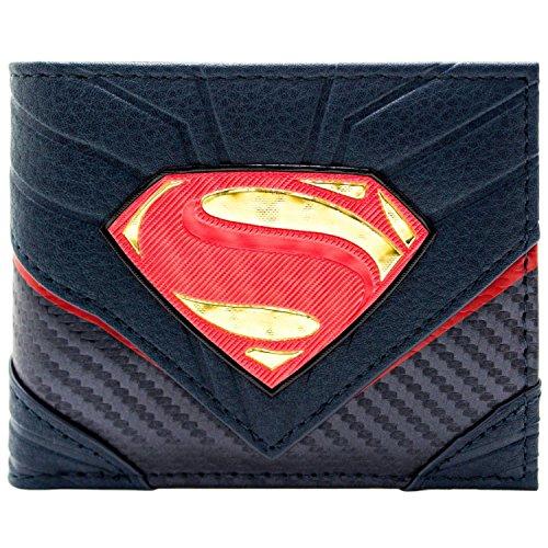 nzug Stil Schwarz Portemonnaie Geldbörse (Hochwertige Superman Kostüme)