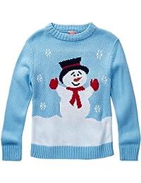 Halloween & Christmas Kidswear Niños carácter muñeco de Nieve Navidad Novedad Jersey de Punto