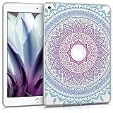 kwmobile Hülle für Apple iPad 9.7 (2017 / 2018) - Case Handy Schutzhülle TPU Silikon für Tablet - Backcover Cover klar Blau Pink Transparent