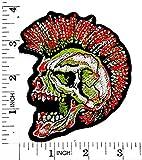 Totenkopf Ghost Zombie Mohawk Rider Biker Motorrad Patch Hand bestickt und Bügelbild Symbol Jacke T-Shirt patches aufnäher Zubehör