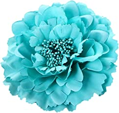Voberry Peony Flowers Hair Clips Wedding Festival Beach Headwear Hairpin Brooch