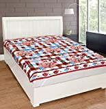 #7: Warmland Floral Polycotton Double Mattress Protector - Multicolour