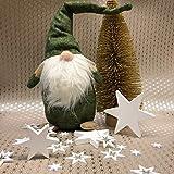 Oblique Unique® 18 Holz Sterne Holzdeko Weihnachtsdeko Tischdeko Weihnachten Echtholz - Farbe wählbar (Weiss) - 5