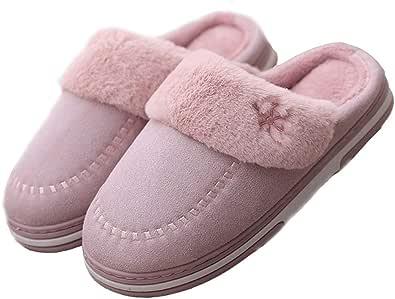 YILANLAN Pantofole in Cotone semplici da Uomo e da Donna Invernali Nuove Pantofole da Interno in Peluche a Caldo Caldo Antiscivolo per Interni
